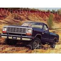 Поколение Dodge RAM I (D/W) пикап с одинарной кабиной