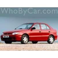 Поколение Hyundai Accent I 5 дв. хэтчбек