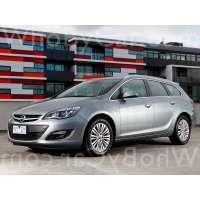 Поколение автомобиля Opel Astra J 5 дв. универсал рестайлинг