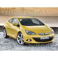 Поколение автомобиля Opel Astra J 3 дв. хэтчбек рестайлинг