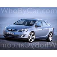 Поколение автомобиля Opel Astra J 5 дв. универсал