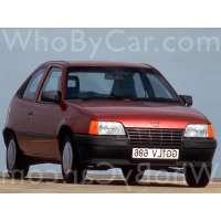 Поколение Opel Kadett E 3 дв. хэтчбек