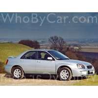 Поколение Subaru Impreza II 1 седан рестайлинг
