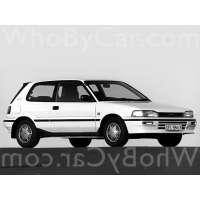 Поколение Toyota Corolla VI (E90) 3 дв. хэтчбек
